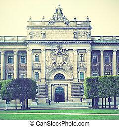 議會建築物, 在, 斯德哥爾摩