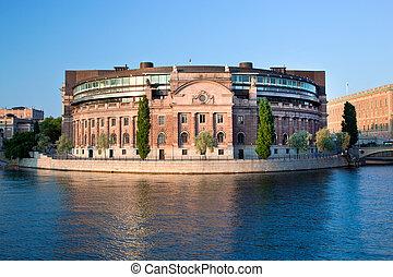 議會建築物, 在, 斯德哥爾摩, 瑞典