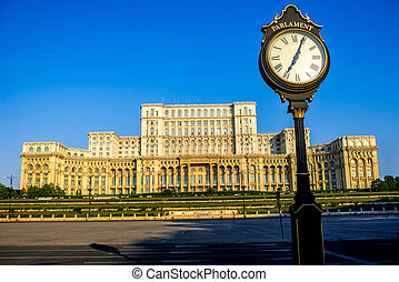 議會建築物, 在, bucharest