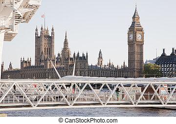 議會的房子, 以及, 大本鐘, 倫敦, england, 英國