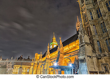 議會的房子, 倫敦, 藝術, 夜晚