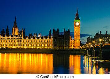議會的房子, 夜間, 倫敦