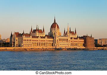 議會, 大廳, 在, 布達佩斯, 匈牙利