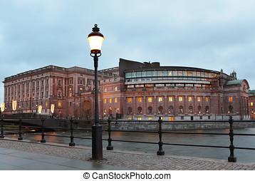 議會, 房子, 在, 斯德哥爾摩