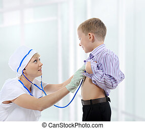 護士病人, 年輕, 聽
