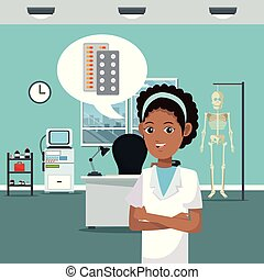 護士, 在, 醫生, 辦公室