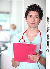 護士, 由于, 夾子板