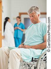 護士, 輪椅, 男性, 病人, 其次