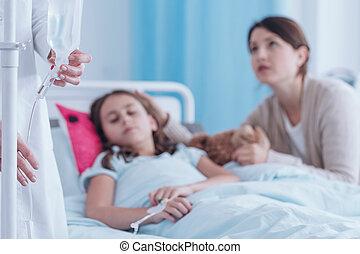 護士, chaning, a, 滴水