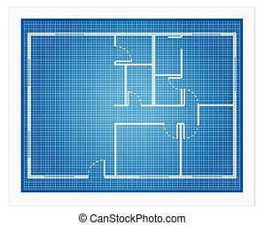 计划, 蓝图, 房子