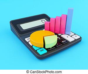 计算器, graph., 商业办公室, 3d