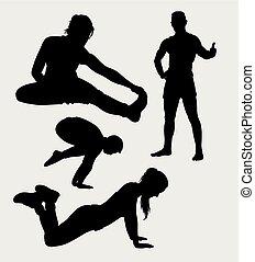 训练, 健身, 侧面影象