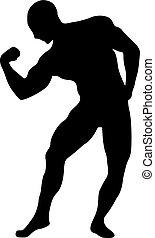 训练, 肌肉, 侧面影象