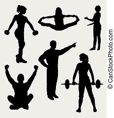 训练, 运动, 侧面影象