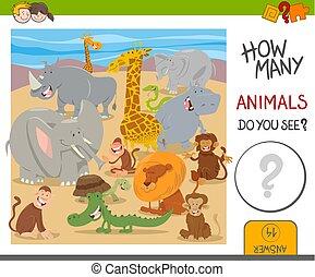 许多, 游戏, 孩子, 动物, 如何