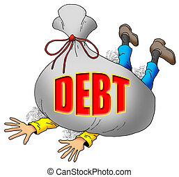 许多, debt.