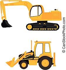 设备, 建设, excavator