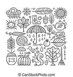 设计元素, 你, 秋季, 放置
