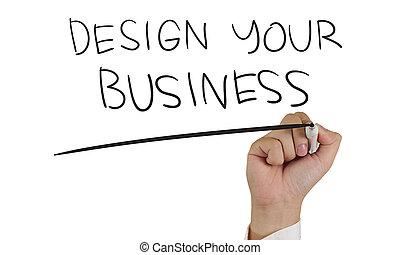 设计, 你, 商业, 概念, 印刷术