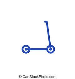 设计, 小摩托车, 矢量, 踢, 图标