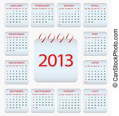 设计, 日历, -, 2013