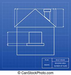 设计, 蓝图, 房子