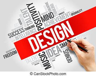 设计, 词汇, 云