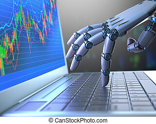 证券市场, 机器人, 从事贸易