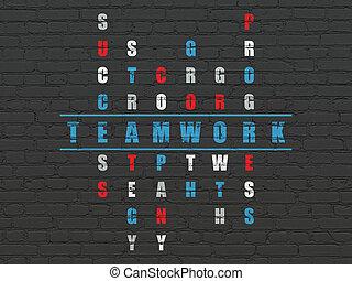 词汇, 商业, 难题, 解决, 拼字游戏, 配合, concept: