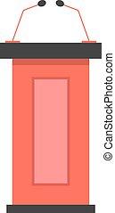 话筒, 论坛, 红, 图标