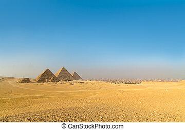 谷, エジプト, カイロ, 偉人, ギザピラミッド