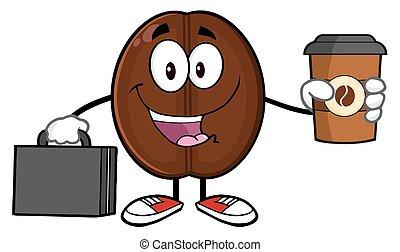 豆, コーヒー, ビジネスマン