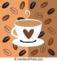 豆, コーヒー, 愛