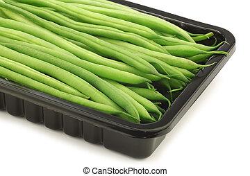 豆, 緑, ほっそりしている, 小さい