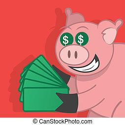 豚, お金