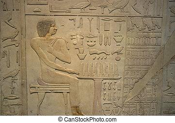 象形文字, 背景, エジプト人