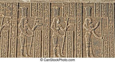 象形文字, dendera, 寺院, 6