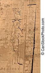 象形文字, edfu, 寺院, 6