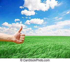 ∥象徴する∥, よい, 収穫, 手, 農夫