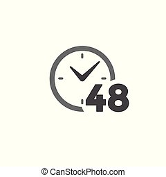 象徴性, 期限, 管理, &, 時間, 急ぎ, アイコン, 時間厳守