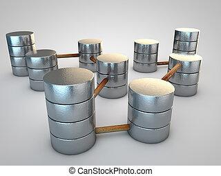象徴的, 銀, データベース