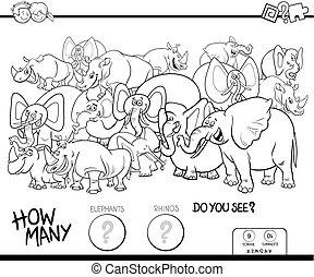 象, 色, サイ, ゲーム, 本, 数える