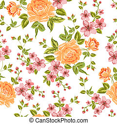 豪華, 牡丹, pattern., 顏色