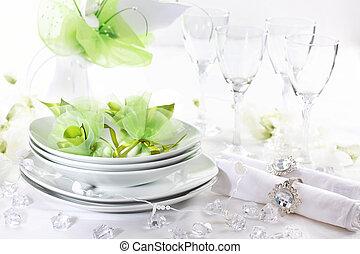 豪華, 餐具, 為, 婚禮