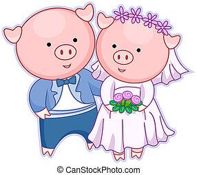 豬, 婚禮
