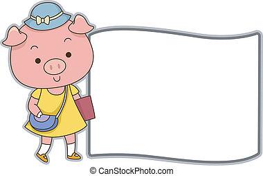 豬, 學生, 板