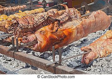 豬, 整體, 烘烤