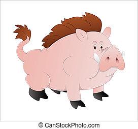 豬, 矢量