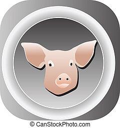 豬, 网, 圖象, 按鈕