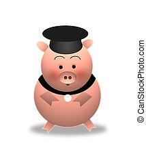 豬, (graduation)